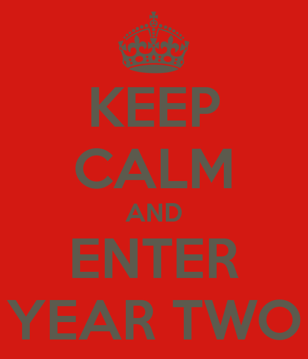 Keep calm and enter year two